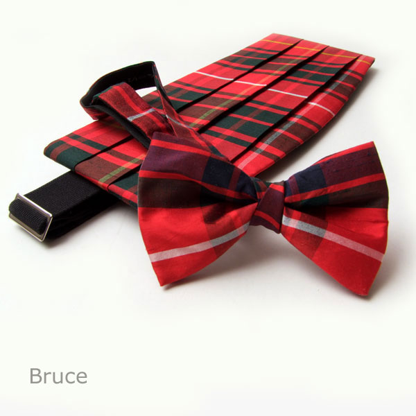 Burns Night, Cummerbund & Bow -Tie Set Dupion Silk Tartan