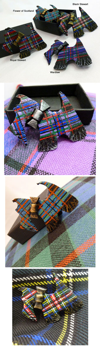 Brooch, Scottie Dog, in STOCK Tartans