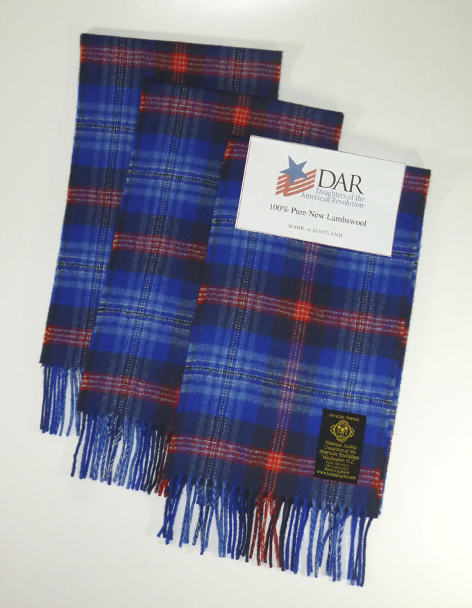 Scarf, DAR Tartan, Pure New Lambswool - Just Arrived!