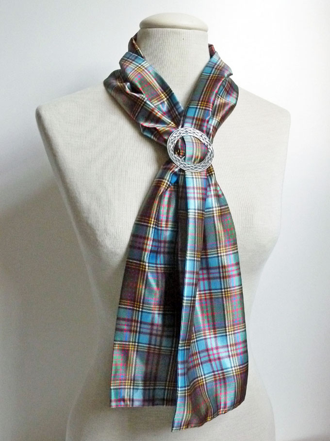 house of tartan scarf in any tartan with celtic ring