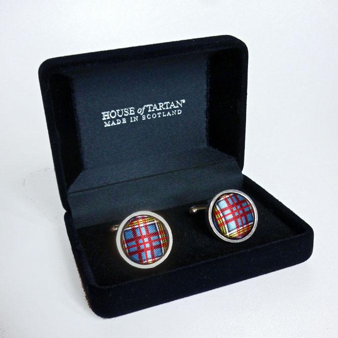 Macfarlane Scottish Clan Crest Cufflinks /& Box modern