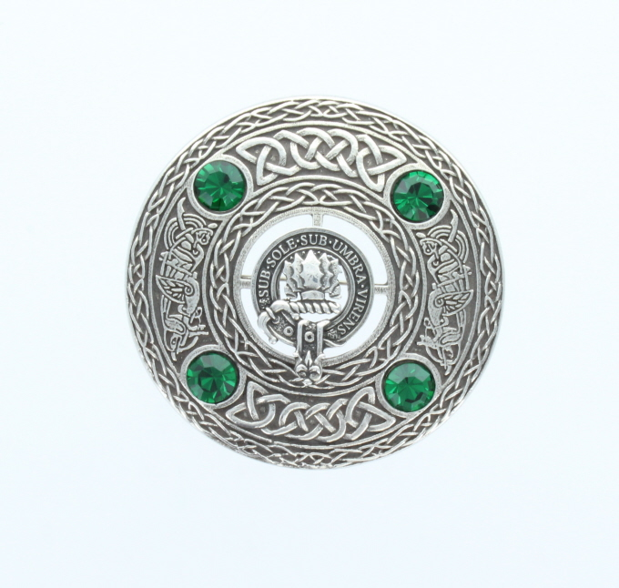 Brooch, Plaid, Large, Clan Crest