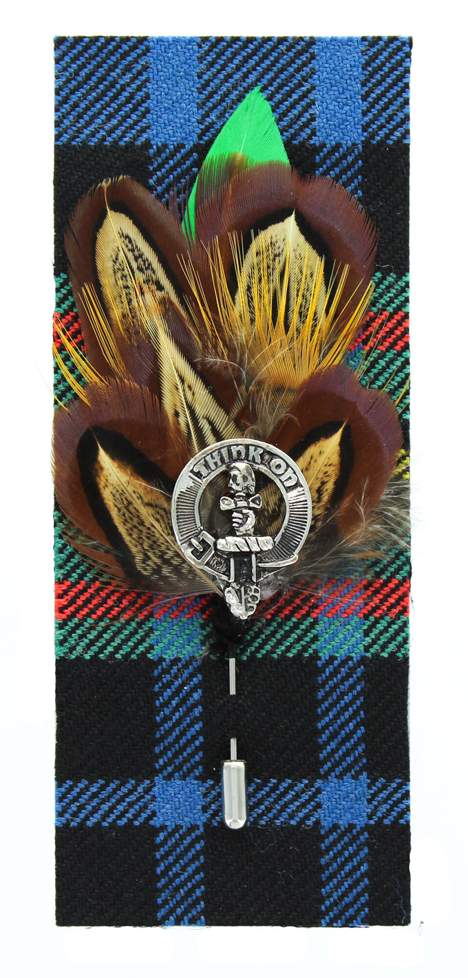 Clan Badge Feather Pin, Clan MacLellan