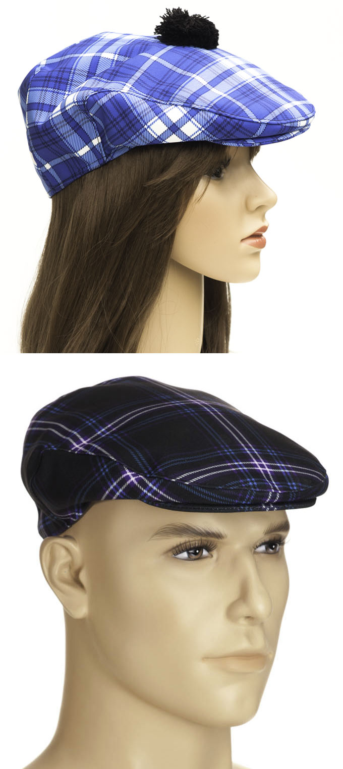 County Flat Cap, Individual Sized to Order, ANY Tartan