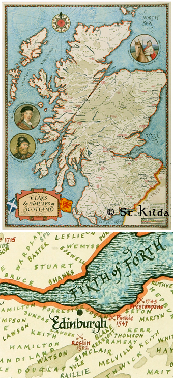 Map: Clans and Families of Scotland