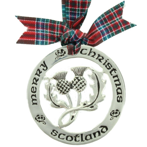 Scottish Christmas Ornament, Pendant,  MacBean, McBain Tartan