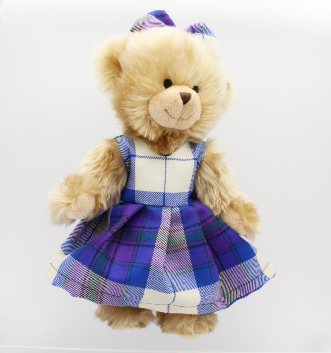 Ms Teddy Highland Dancer, Tartan Teddy Bear