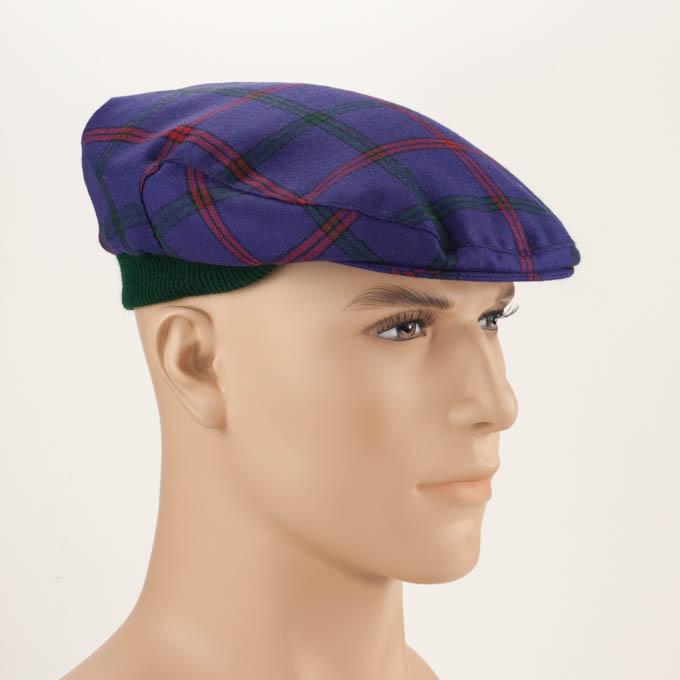 7e9c7d95b Cap, Mens Flat Cap, One Size,Tartan County Style, in 500 Tartans