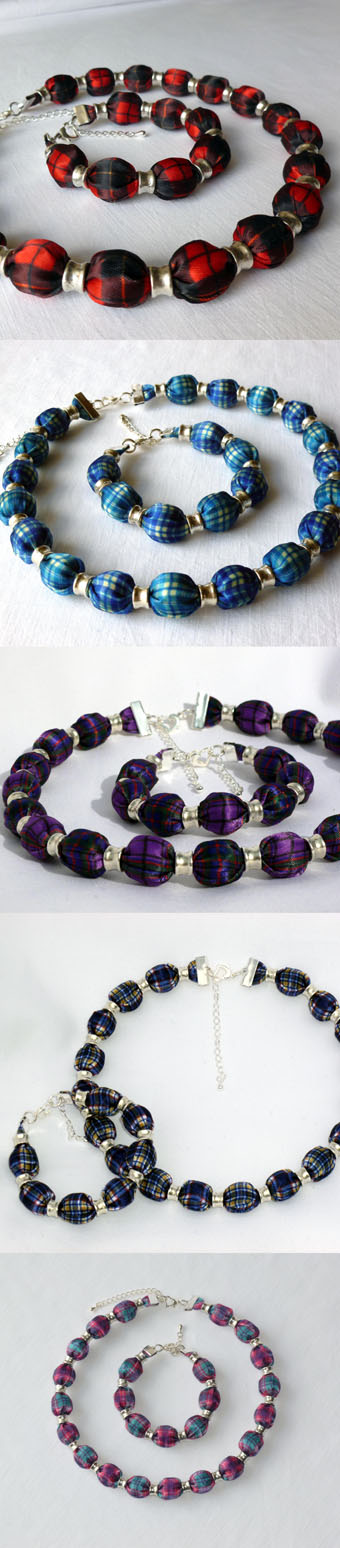 Tartan Necklace Set in Any Tartan