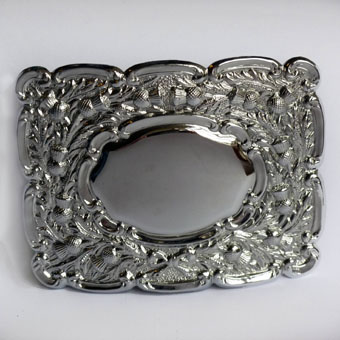 Buckle, Chrome Pipers Belt Buckle