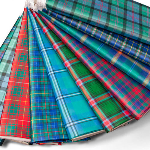 Fabric, Tartan, Silk-effect Polyester in ANY Tartan