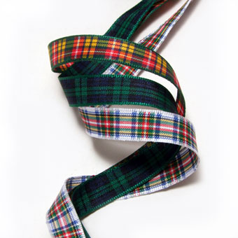 Ribbon, Tartan, Polyester 10mm