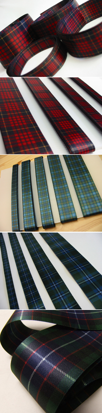 Tartan Ribbon, ASSORTED-WIDTH Packs, 1yd  Cut Lengths