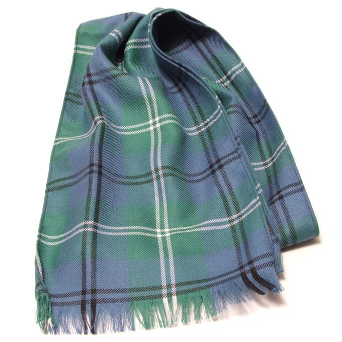 Scarf, Light Weight TWILL weave wool, Tartan