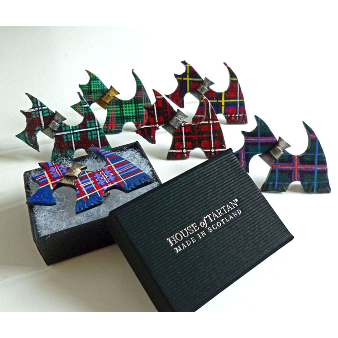 Brooch, Scottie Dog, ONE PAIR Made to Order