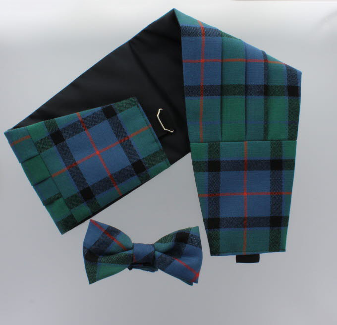 Cummerbund & Bow -Tie Set Lightweight Wool Tartan