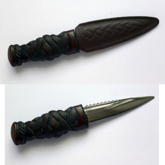Sgian Dubh, Carved Handle