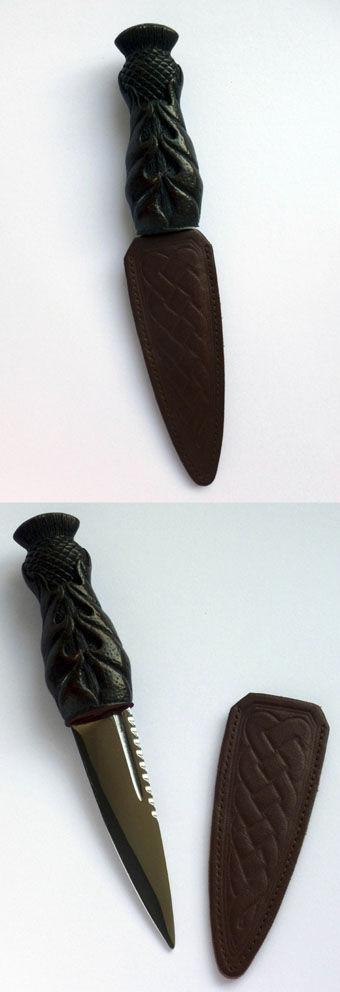 Sgian Dubh, Thistle Handle