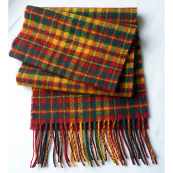 Edinburgh 100/% Lambswool Luxury Scottish Tartan Stole Sinclair Hunting Ancient