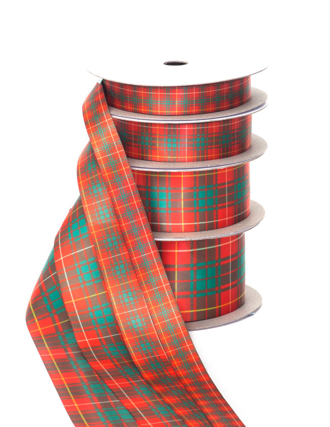 Tartan Ribbon, Polyester, Custom-Matched to ANY Tartan.