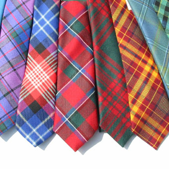 Burns Night, Tie, Necktie, Mediumweight Wool Tartan