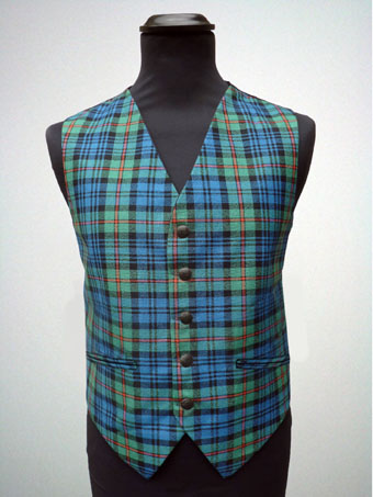 Waistcoat, Vest ,Tartan, in choice of over 500 Wool Tartans