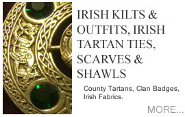 Irish Kilts and Outfits County Tartans, Clan Badges, Irish Fabrics
