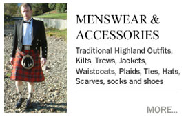 Menswear, Kilts, Sporrans & Kilt Accessories Kilts, Bespoke Traditional Highland Outfits and Accessories, Socks and Shoes